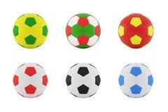 Bunter Fußball auf einem weißen Hintergrund Stockfotografie