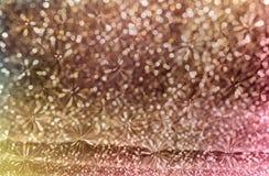 Bunter Funken und Glühen buntes glänzendes bokeh beleuchten Lizenzfreie Stockbilder