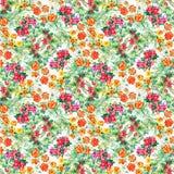 Bunter Garten blüht nahtloses Muster Lizenzfreies Stockfoto