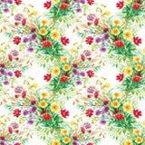 Bunter Garten blüht nahtloses Muster Stockfotografie