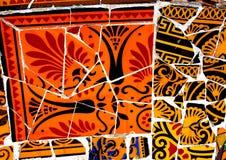 Bunter Gaudi-Mosaikhintergrund Stockfotografie