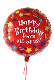 Bunter Geburtstagballon Stockbilder