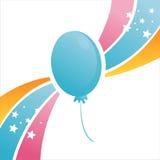Bunter Geburtstagballonhintergrund lizenzfreie abbildung