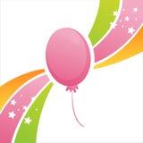Bunter Geburtstagballonhintergrund stock abbildung