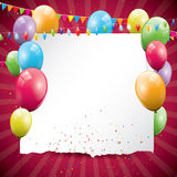 Bunter Geburtstaghintergrund lizenzfreie abbildung
