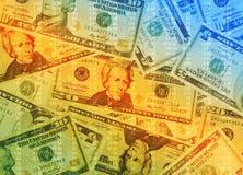 Bunter Geld-Hintergrund Lizenzfreies Stockfoto