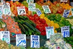 Bunter Gemüsestandplatz Lizenzfreies Stockfoto
