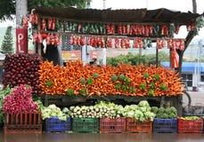 Bunter Gemüsestandplatz Stockbild