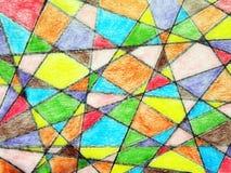 Bunter gemalter Auszug Stockbild