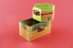 Bunter gemalter Kasten der Schmucksachen zwei Lizenzfreie Stockbilder