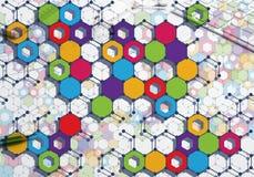 Bunter geometrischer Hintergrund Stockbild