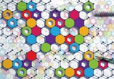 Bunter geometrischer Hintergrund Lizenzfreies Stockfoto