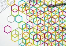Bunter geometrischer Hintergrund Lizenzfreie Stockfotos
