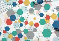 Bunter geometrischer Hintergrund Lizenzfreies Stockbild