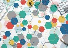 Bunter geometrischer Hintergrund Stockfotos