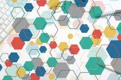 Bunter geometrischer Hintergrund Stockfoto