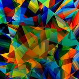 Bunter geometrischer Hintergrund Abstraktes dreieckiges Muster Polygonaler Art Illustration Polyart-Design Dreieck-Konzept Stockfotografie