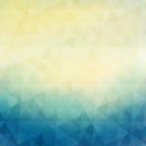 Bunter geometrischer Hintergrund mit Dreiecken Stockfotografie