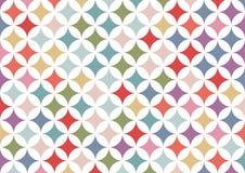 Bunter geometrischer Kreishintergrund | abstrakte Retro- Mustertapete | Beschaffenheitsdesign Stockbild