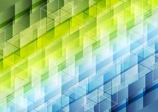 Bunter geometrischer polygonaler pixelated Hintergrund Lizenzfreie Stockfotos