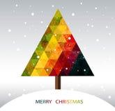 Bunter geometrischer Weihnachtsbaum Lizenzfreies Stockfoto