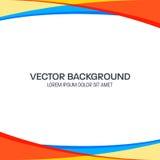 Bunter gewellter Vektor-Hintergrund Lizenzfreie Stockfotografie