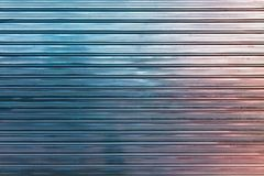 Bunter glänzender gewölbter Metallzaun Stockbild