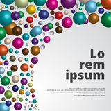 Bunter glatter Hintergrund der Bereiche 3d für Schablonendruck, Anzeige, PO Stockbild