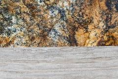 Bunter Granit und Marmor Stockfoto