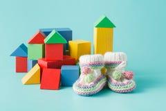 Bunter hölzerner Toy Building Blocks Stockbild