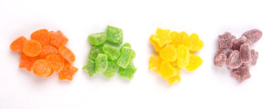 Bunter Haufen von Sugar Jelly Candy VI Stockfoto