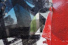 Bunter heftiger alter Poster als abstraktes buntes strukturiertes backgro Lizenzfreie Stockfotografie