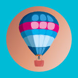 Bunter Heißluft-Ballon Lizenzfreie Stockfotografie