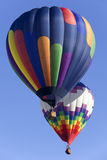 Bunter Heißluft-Ballon Stockfotografie