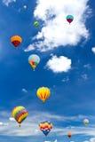 Bunter Heißluftballon Stockfotografie