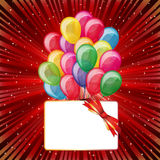 Bunter hell Hintergrund mit Ballonen Stockfotografie