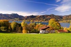 Bunter Herbst im Bayern Stockfotografie