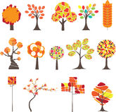 Bunter Herbstbaum. Vektorabbildung Lizenzfreie Stockfotos