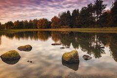 Bunter Herbstmorgen Lizenzfreie Stockfotografie