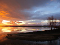 Bunter Himmel des Sonnenaufgangs Stockfoto