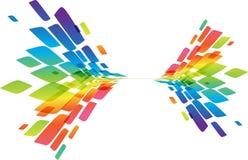 Bunter Hintergrund, abstraktes Bewegungselement auf Weiß Stockfotografie