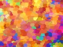 Bunter Hintergrund in den warmen Herbstfarben Lizenzfreies Stockbild