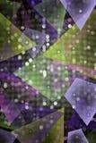 Bunter Hintergrund der Abstraktion für Designgrafiken mit geometrischen Zahlen stock abbildung