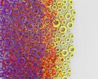 bunter Hintergrund der Illustration 3d mit Kreisen Lizenzfreie Stockbilder