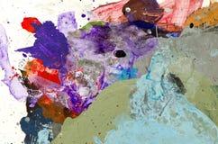 Bunter Hintergrund der Malerpalette Stockbild