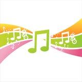 Bunter Hintergrund der musikalischen Anmerkungen lizenzfreie abbildung