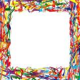 Bunter Hintergrund des abstrakten Regenbogenrahmens Lizenzfreie Stockbilder