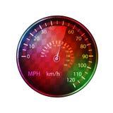 Bunter Hintergrund des Autogeschwindigkeitsmessers vektor abbildung