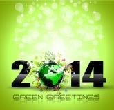 Bunter Hintergrund des neuen Jahr-2014 Stockbild