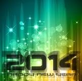 Bunter Hintergrund des neuen Jahr-2014 Stockfoto
